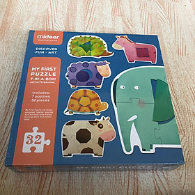 Mideer My 1st puzzle 6 in a box - các chủ đề