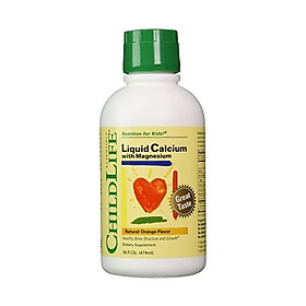 ChildLife Essentials Liquid Calcium/Magnesium for Infants, Babys, Kids, Toddlers, Children, and Teens, Natural Orange Flavor Plastic Bottle, 16-Fl. Oz. (Pack of 3)