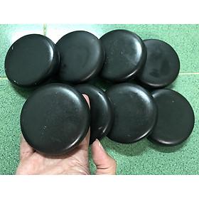 Bộ 8 Viên Đá Bazan Nóng Massage Tròn Trung 8x8x1.8cm