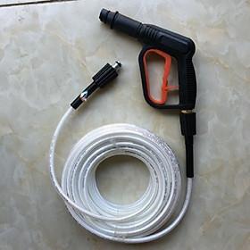 Bộ Dây 10M Và Đầu Vòi Xịt Rửa Xe Áp Lực Cao , Dùng Cho Máy Rửa Xe Mini Gia Đình