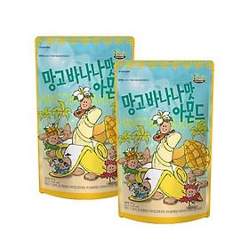 Combo 2 gói Hạnh nhân vị Xoài và Chuối Hàn Quốc Tomsfarm Mango Banana Almond 210g x 2ea
