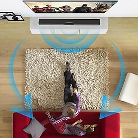 Portable TV Soundbar Bluetooth Speaker System Subwoofer Loudspeaker AUX New