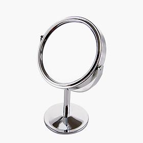 Gương trang điểm tròn xoay 360 độ Mini để bàn 2 mặt Minigood Hàn Quốc DMCTB079