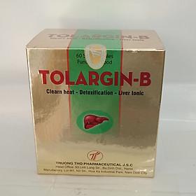 Thanh nhiệt- giải độc, hỗ trợ hạ men gan  tăng cường chức năng gan trong các trường hợp xơ gan, viêm gan, gan nhiễm mỡ - Viên uống bổ gan Tolargin-B chứa Arginin, ursodesoxycholic và các Vitamin, hàng chính hãng- Hộp 60 viên