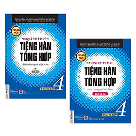 Combo Sách Tiếng Hàn Tổng Hợp Trung Cấp Dành Cho Người Việt Tập 4 (Sách Giáo Khoa + Sách Bài Tập) - Bản Đen Trắng