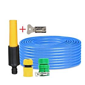 Bộ dây vòi xịt nước rửa xe, tưới cây đa năng, tăng áp 3 lần, loại 3m, 5m 206622-5 cút sập,nối vàng+ tặng đai