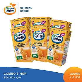 Combo 6 Hộp Sữa bích quy Fruto Nyanya 200ml