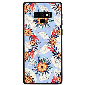 Ốp lưng viền TPU cho điện thoại Samsung Galaxy Note 9 - Flower 16