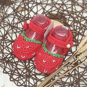 Giày dép thủ công cao cấp - Xăng đan dâu tây - Giày dép dễ thương cho bé