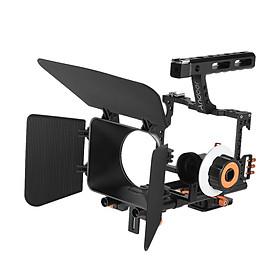 Bộ Phụ Kiện Máy Ảnh Gồm Hệ Thống Matte Box+Theo Dõi Lấy Nét + Tay Cầm + Rod (15mm) Cho Máy Ảnh Sony A7S/A7/A7R/A7Rii/A7Sii Ildc Mirrorless