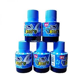 Combo 5 Cốc thả bồn cầu tẩy xanh toilet Hàn Quốc Mr Fresh 180g ( hương ngàn hoa )