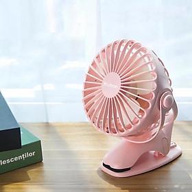 Quạt sạc mini xoay góc 720 độ, đế kẹp đa năng hoặc đặt bàn, an toàn cho trẻ với 4 nấc điều chỉnh gió chính hãng YOOBAO F04 - Hàng nhập khẩu