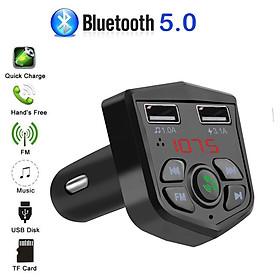 Tẩu Nghe Nhạc  MP3 Blutooth Cho Ô Tô  Kèm Cổng  Sạc Nhanh 3.1A điện Thoại Trên Xe Ô tô