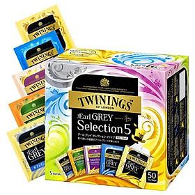Hộp trà Bá Tước tuyển chọn TWININGS 102.5g - 50 gói (gồm 5 vị)