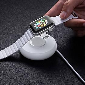 Đế Sạc không dây hỗ trợ sạc nhanhcho Apple Watch series 1 / 2 / 3 / 4hiệu Baseus Yoyo (sạc nhanh 2.5W, nhỏ gọn tiện dụng, lực hít nam châm, sạc đầy trong 2.5h) - hàng nhập khẩu