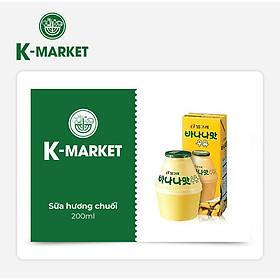 K-Market - Sữa Hương Chuối (200ml)