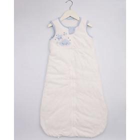 Túi ngủ 3 lỗ chất cotton lót bông ấm hình mây xanh cho bé