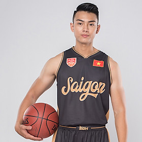 Áo Bóng Rổ Nam Jersey uniform Black Jartazi SGH03