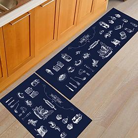 Non Slip Water Absorption Rectangle Carpet Floor Mat for Home Kitchen Corridor
