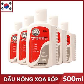 Bộ 5 Chai Dầu nóng Hàn Quốc Antiphlamine ( Chai 100ml ) - Đau nhức massage cơ thể