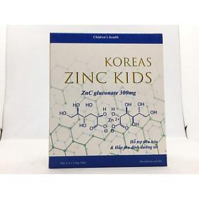 Bổ sung kẽm tăng cường đề kháng cho trẻ, kích thích ăn ngon, ngủ ngon KOREAS ZINC KIDS-Hộp 20 ống chứa Kẽm Gluconat không gây táo bón