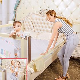 Thanh chắn giường cao cấp Babyquiner 2019 mẫu trượt có nút ấn hiện đại giá 1 thanh (Giao màu ngẫu nhiên)