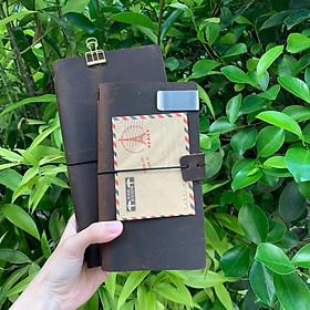 Sổ Da Cao Cấp Midori Size A6 (17x10cm)