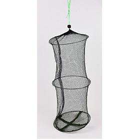Giỏ Lưới Đựng Cá gấp gọn (3 Vòng) có dây rút  ,  lồng phơi rau củ, trái cây