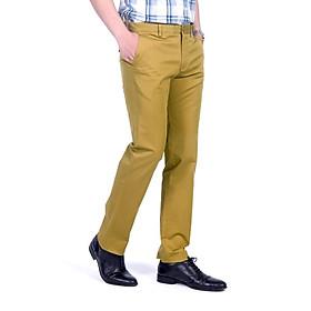 Quần kaki nam màu vàng không ly May 10
