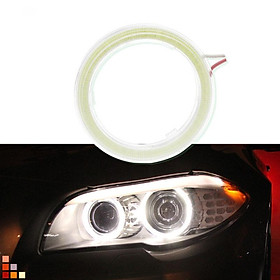 60/70/80/90/100/110/120mm 6000k Car Motorcycle Auto Super Bright Halo Rings Fog Cob Led Angel Eyes Headlight DRL Light Bulb Lamp