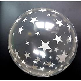 10 bong bóng trang trí trong suốt in ngôi sao