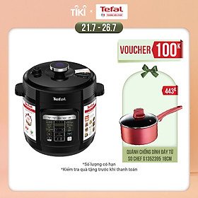 Nồi áp suất điện đa năng Tefal CY601868 - 6 Lít - 15 chức năng - Hàng chính hãng