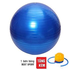 Bóng Tập Yoga Trơn Best Sport DK065 (65cm) - Màu Ngẫu Nhiên + Tặng Kèm Bơm