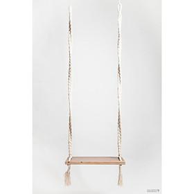 xích đu gỗ tần bì cao cấp 60x20x3,5cm dây treo dài 250cm