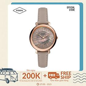 Đồng hồ nữ Fossil Jacqueline ES5091 dây da - màu xám