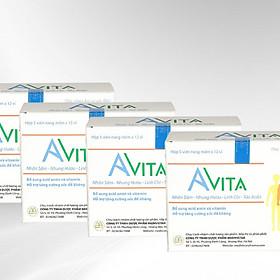 Combo 4 hộp Thực phẩm chức năng Đạm Bổ Tăng Cân Cho Người Gầy Avita, nâng cao thể trạng, tăng cường sức Đề kháng, dùng cho người gầy kém ăn, Trẻ em đang trong giai đoạn phát triển (60 viên/ hộp)