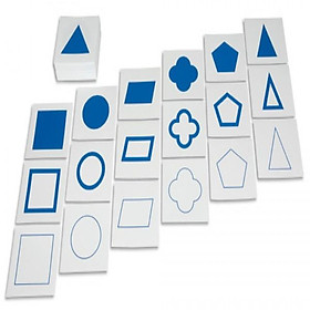 Thẻ trình diễn hình học - Cards For Geometric (Demonstration Tray-in card A104 montessori