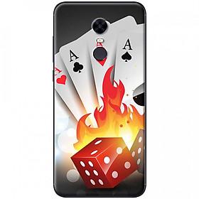 Hình đại diện sản phẩm Ốp lưng dành cho Xiaomi Redmi 5 mẫu Thẻ bài lửa