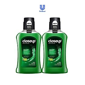 Combo 2 nước súc miệng CloseUp Nature Boost (300mlx2)