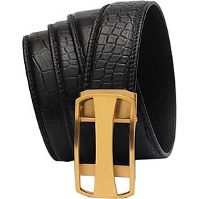 Dây nịt nam - Thắt lưng nam da SAM leather SFDN010IV, Men's belts