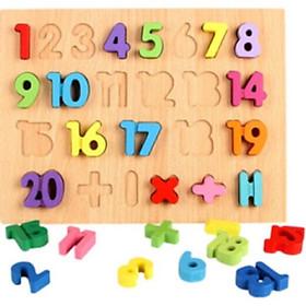 Bảng học chữ số nổi