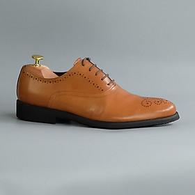 Giày Tây Nam Công Sở Buộc Dây Da Thật Thương Hiệu Fu Khang FK200V Kiểu Dáng Dòng Oxford Màu Đen Thiết Kế Trẻ Trung Và Lịch Lãm