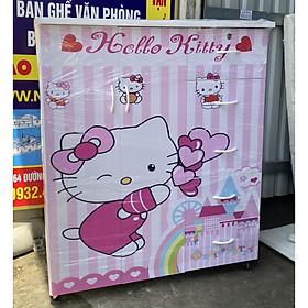 Tủ quần áo nhựa đài loan trẻ em in 3D - có VIDEO - 1m06x1m25x42 doremon cho bé trai
