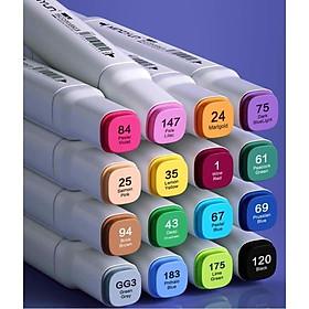 Túi 24 bút dạ màu MARKER hai đầu, bút lông màu 24 màu thỏa sức lựa chọn