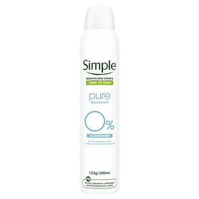 Simple Deodorant Pure Aerosol 200ml