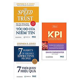 Combo Kĩ Năng Sống Thành Công Nhanh Cho Mọi Người: Tốc Độ Của Niềm Tin +  KPI - Thước Đo Mục Tiêu Trọng Yếu + 7 Thói Quen Hiệu Quả ( Tặng Kèm Bookmark Happy Life)