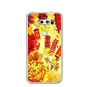 Ốp lưng dẻo cho điện thoại LG V30 - 0405 FIREWORK - Hàng Chính Hãng