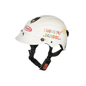 Mũ Bảo Hiểm Andes Trẻ Em Có Kính - 3S108SK Tem Bóng S83 - Trắng