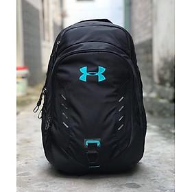 Balo Laptop thể thao Nam Nữ UAR Storm màu đen logo xanh ngọc