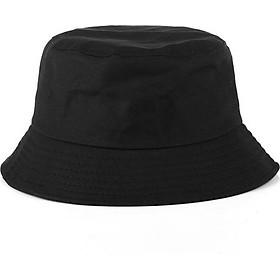 Nón bucket đen trơn thời trang Hàn Quốc dành cho cả nam và nữ NK482